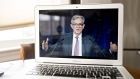 Jerome Powell during a virtual news conference. Bloomberg/Andrew Harrer