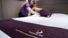 A chambermaid makes a bed in a bedroom at a Premier Inn hotel, operated by Whitbread Plc, in London, U.K., on Wednesday, Jan. 17, 2018. The hotel and restaurant group, that owns Premier Inn hotels and Costa Coffee, is due to report third quarter results on Thursday. Photographer: Chris Ratcliffe/Bloomberg