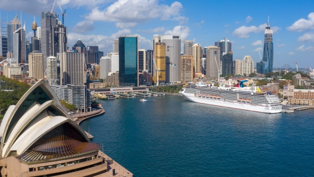 The Carnival Spirit, moored in Sydney. Photographer: James D. Morgan/Getty Images AsiaPac