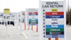 Signage directs motorists to car return locations at a Hertz Global Holdings Inc. rental lot at Louisville International Airport (SDF) in Louisville, Kentucky, U.S., on Tuesday, Feb. 19, 2019. Hertz is scheduled to release earnings figures on February 25. Photographer: Luke Sharrett/Bloomberg