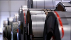 Rolls of steel in Germany. Photographer: Krisztian Bocsi/Bloomberg