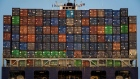 Shipping containers sit stacked on the CMA CGM Ivanhoe cargo ship sailing from the Port of Oakland in Oakland, California, U.S., on Tuesday, July 3, 2018. President Donald Trump threatened to impose tariffs on every single Chinese import into America as the world's two largest economies exchanged the first blows in a trade war that isn't set to end anytime soon. Photographer: David Paul Morris/Bloomberg