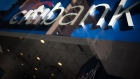 Citigroup Inc. signage is seen through the window of a bank branch in New York. Photographer: Mark Kauzlarich/Bloomberg
