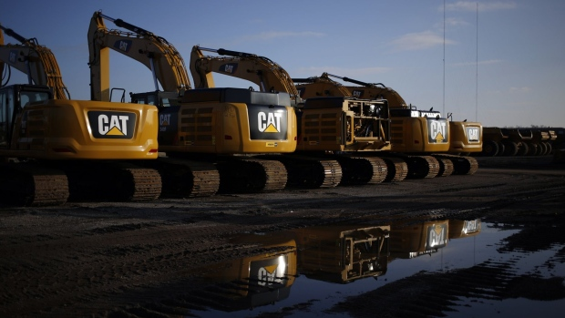 Caterpillar Inc. excavators are displayed for sale at the Whayne Supply Co. dealership in Louisville, Kentucky, U.S., on Monday, Jan. 27, 2020. Caterpillar is scheduled to release earnings figures on January 31. Photographer: Luke Sharrett/Bloomberg