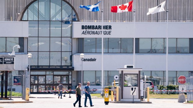 Bombardier plant in Montreal