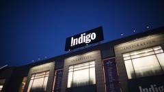 Indigo Books & Music signage is displayed outside a store at Yorkdale mall in Toronto.