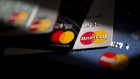 Mastercard Inc. credit and debit cards are arranged for a photograph in Arlington, Virginia, U.S. on Monday, April 29, 2019. Mastercard Inc. is scheduled to release earnings figures on April 30. Photographer: Andrew Harrer/Bloomberg