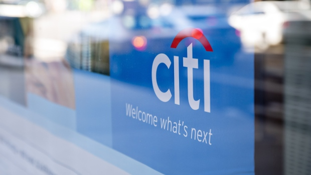 Signage is displayed in the window of a Citigroup Inc. Citibank branch in Chicago, Illinois, U.S., on Saturday, Oct. 12, 2019. Citigroup is scheduled to release earnings figures on October 15. Photographer: Daniel Acker/Bloomberg