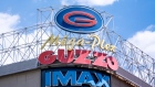 A Guzzo cinema sign is seen on a store front in Montreal on Tuesday, June 18, 2019. THE CANADIAN PRE