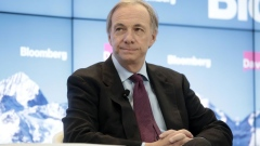 Ray Dalio, billionaire and founder of Bridgewater Associates LP, pauses during a Bloomberg panel session on the closing day of the World Economic Forum (WEF) in Davos, Switzerland, on Friday, Jan. 26, 2018. World leaders, influential executives, bankers and policy makers attend the 48th annual meeting of the World Economic Forum in Davos from Jan. 23 - 26.