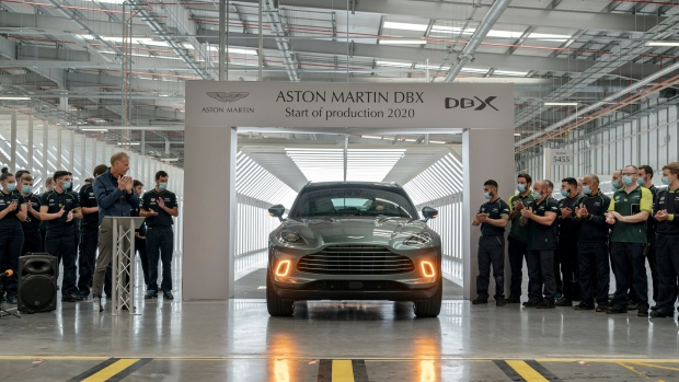 Aston Martin's first SUV - the DBX, rolls off production line