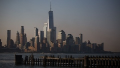 The lower Manhattan skyline is seen from Hoboken, New Jersey, U.S., on Monday, July 29, 2019. U.S. stocks fell and Treasuries rose as investors sought clarity on the latest trade policy from the Trump administration and digested the latest jobs report. Photographer: Michael Nagle/Bloomberg