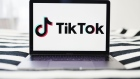 Signage for ByteDance Ltd.'s TikTok app is displayed on a laptop computer in an arranged photograph taken in the Brooklyn borough of New York, U.S., on Wednesday, July 1, 2020.