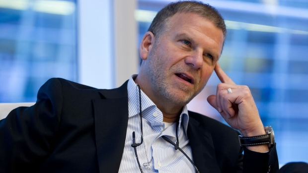 Tilman Fertitta, chief executive officer of Landry's Inc., speaks during an interview in New York, U.S.