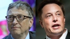 Elon Musk and Bill Gates. Bloomberg