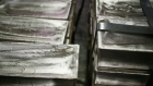 Silver bars sit inside a vault at the Rochester Silver Works LLC (RSW) facility in Rochester, New York. Photographer: Luke Sharrett/Bloomberg
