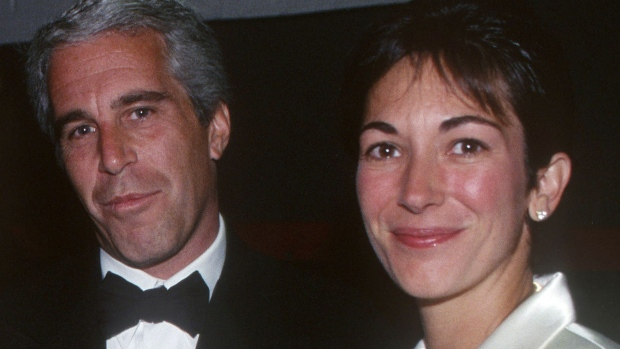 Jeffrey Epstein and Ghislaine Maxwell attend an event in New York on May 16, 1995. Photographer: Patrick McMullan/Patrick McMullan