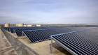 Solar panels are used to power Chevron Corp.'s operations in the Midway-Sunset oil field