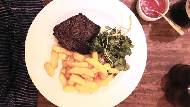 Hawksmoor is offering a 35-day dry-aged rump steak with chips and sauce. Photographer: Richard Vines/Bloomberg