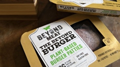 Packages of Beyond Meat plant-based burger patties. Photographer: Daniel Acker/Bloomberg