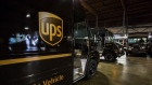 United Parcel Service (UPS) delivery trucks