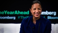 Susan Rice, former U.S. national security advisor, smiles during the Bloomberg Year Ahead Summit in New York, U.S., on Thursday, Nov. 7, 2019. The summit addresses the most important trends, issues and challenges every executive will need to consider in 2020 and beyond.