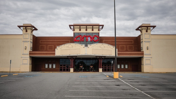 The AMC Classic Cartersville 12 movie theater stands temporarily closed in Cartersville, Georgia, U.S., on Wednesday, April 22, 2020. Georgia is reopening for business more aggressively than any state in the U.S., after being one the last to order a statewide shutdown. Photographer: Dustin Chambers/Bloomberg