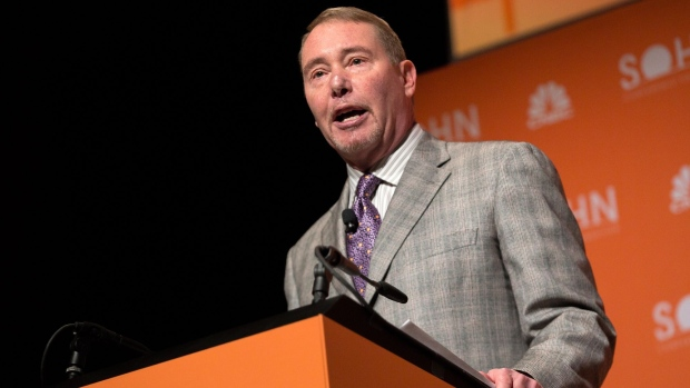 Jeffrey Gundlach, co-founder and chief executive officer of DoubleLine Capital LP, speaks during the Sohn Investment Conference in New York, U.S., on Monday, May 6, 2019. The conference gathers top investors from around the globe for a day of fresh market insights.