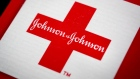 he Johnson & Johnson logo is arranged for a photograph in New York, U.S.