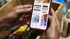 The Pinterest Inc. application is displayed on an Apple Inc. iPhone in this arranged photograph taken in Little Falls, New Jersey, U.S., on Saturday, Feb. 23, 2019. Pinterest has filed paperwork with the SEC for an initial public offering (IPO), the Wall Street Journal reports, citing unidentified people familiar with the matter. Photographer: Gabby Jones/Bloomberg