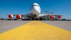 FRANKFURT AM MAIN, GERMANY - MARCH 25: An Airbus A380-800 passenger plane of German airline Lufthansa stands parked and pulled from service at Frankfurt Airport on March 25, 2020 in Frankfurt, Germany. Lufthansa is setting aside 700 of its 763 planes due to a collapse in reservations and passenger numbers due to the worldwide effects of the coronavirus (COVID-19). Airports across the globe have closed, governments have imposed severe restrictions at borders and tourism has come to a halt. (Photo by Thomas Lohnes/Getty Images)
