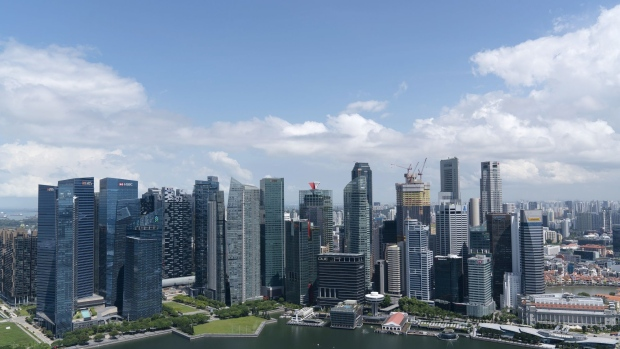The Central Business District skyline in Singapore. Photographer: Wei Leng Tay/Bloomberg
