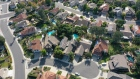 Single-family homes are seen in this aerial photograph taken over San Diego, California.