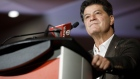 Jerry Dias, president of the Unifor union, speaks to members of the media over teleconference in Toronto, Ontario, Canada, on Tuesday, Sept. 22, 2020. Ford Motor Co. agreed to a three-year labor agreement with Unifor that comes with a commitment to build electric vehicles in its Oakville, Ontario plant beginning in 2025.