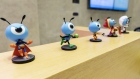 Various figurines of the mascot for Ant Financial are displayed on a reception desk in the lobby of the company's headquarters in Hangzhou, China, on Thursday, Oct. 17, 2019. Ant, the Chinese online finance giant controlled by billionaire Jack Ma, continues to see strong credit demand among small and mid-sized enterprises despite a cooling economy. Photographer: Qilai Shen/Bloomberg