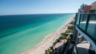Views of the ocean and beach are seen from the Regalia luxury condominium in Sunny Isles Beach, Florida, U.S.