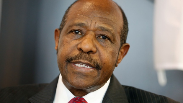 MRCD-UBUMWE chairman Paul Rusesabagina poses for the photographer during a press conference of the political platform MRCD-UBUMWE and the political party RDI-EWANDA RWIZA, concerning the political and security situation in Rwanda, in Brussels, Tuesday 18 June 2019.