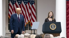 Amy Coney Barrett with President Donald Trump on Sept. 26.