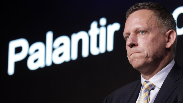 Peter Thiel during a Tokyo news conference in 2019. Photographer: Kiyoshi Ota/Bloomberg