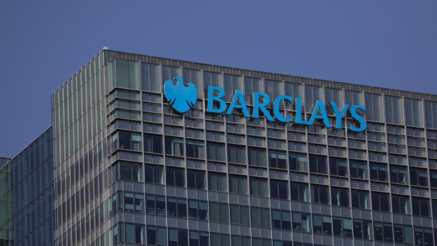 The Barclays Plc office headquarters office building stands in the Canary Wharf business, financial and shopping district of London, U.K., on Friday, Sept. 18, 2020.