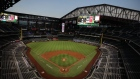 ARLINGTON, TEXAS - SEPTEMBER 11: A general view of play between the Oakland Athletics and the Texas Rangers at Globe Life Field on September 11, 2020 in Arlington, Texas. (Photo by Ronald Martinez/Getty Images)