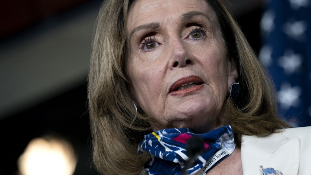 Nancy Pelosi's mixed reaction to Trump's COVID results