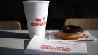 A half-dozen box of donuts sits on the counter inside a Dunkin' location in Mount Washington, Kentucky, U.S., on Thursday, Jan. 30, 2020. Dunkin' Brands Group Inc. is scheduled to release earnings figures on Feb. 6.