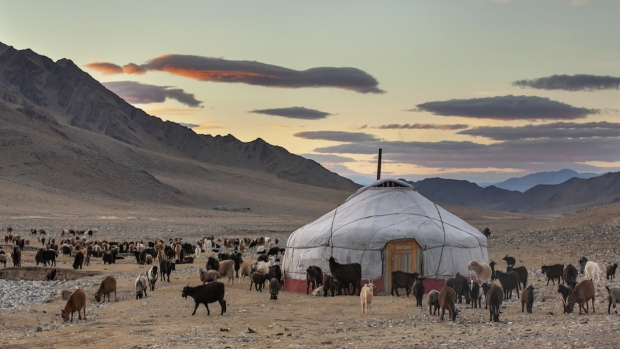 market one - A traditional Yurt in Mongolia, a type of tent very popular throughout the country.