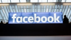 A Facebook Inc. logo sits on display at Station F, a mega-campus for startups located inside a former freight railway depot, in Paris, France, on Tuesday, Jan. 17, 2017.