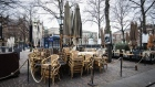 A closed restaurant terrace in The Hague. Photographer: Peter Boer/Bloomberg