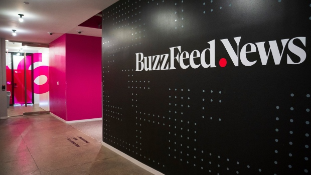 NEW YORK, NY - DECEMBER 11: Members of the BuzzFeed News team work at their desks at BuzzFeed headquarters, December 11, 2018 in New York City. BuzzFeed is an American internet media and news company that was founded in 2006. According to a recent report in The New York Times, the company expects to surpass 300 million dollars in earnings for the 2018 fiscal year. (Photo by Drew Angerer/Getty Images) Photographer: Drew Angerer/Getty Images