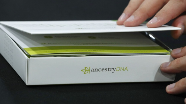 An attendee views an Ancestry.com Inc. DNA kit at the 2017 RootsTech Conference in Salt Lake City, Utah, U.S., on Thursday, Feb. 9, 2017. The four-day conference is a genealogy event focused on discovering and sharing family connections across generations through technology. Photographer: George Frey/Bloomberg