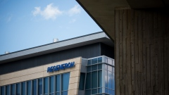 Regeneron Pharmaceuticals Inc. signage is displayed outside their headquarters in Tarrytown, N.Y. Photographer: Michael Nagle/Bloomberg