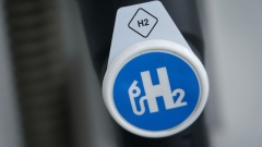 A hydrogen pumping station for hydrogen-powered cars stands on June 10, 2020 in Berlin, Germany.